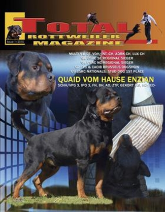 Quaid Vom Hause Enzian Total Rottweiler Magazine Cover